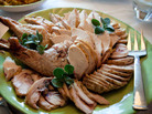 Julia Child's reassembled Thanksgiving turkey.
