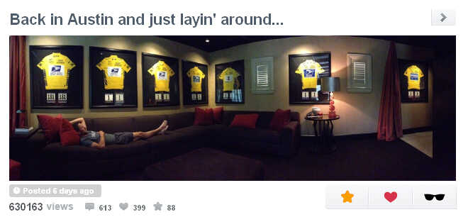 Lance Armstrong at home