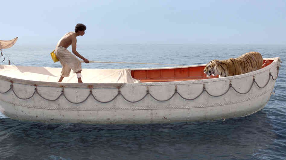 Pi Patel, played by Suraj Sharma, begins forging a connection with the fierce Bengal tiger named Richard Parker.