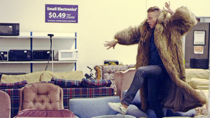 A Still From The Video For Thrift Shop By Macklemore