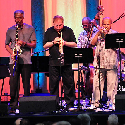 The Cookers performing at the Caramoor Jazz Festival in Katonah, N.Y. July 28.
