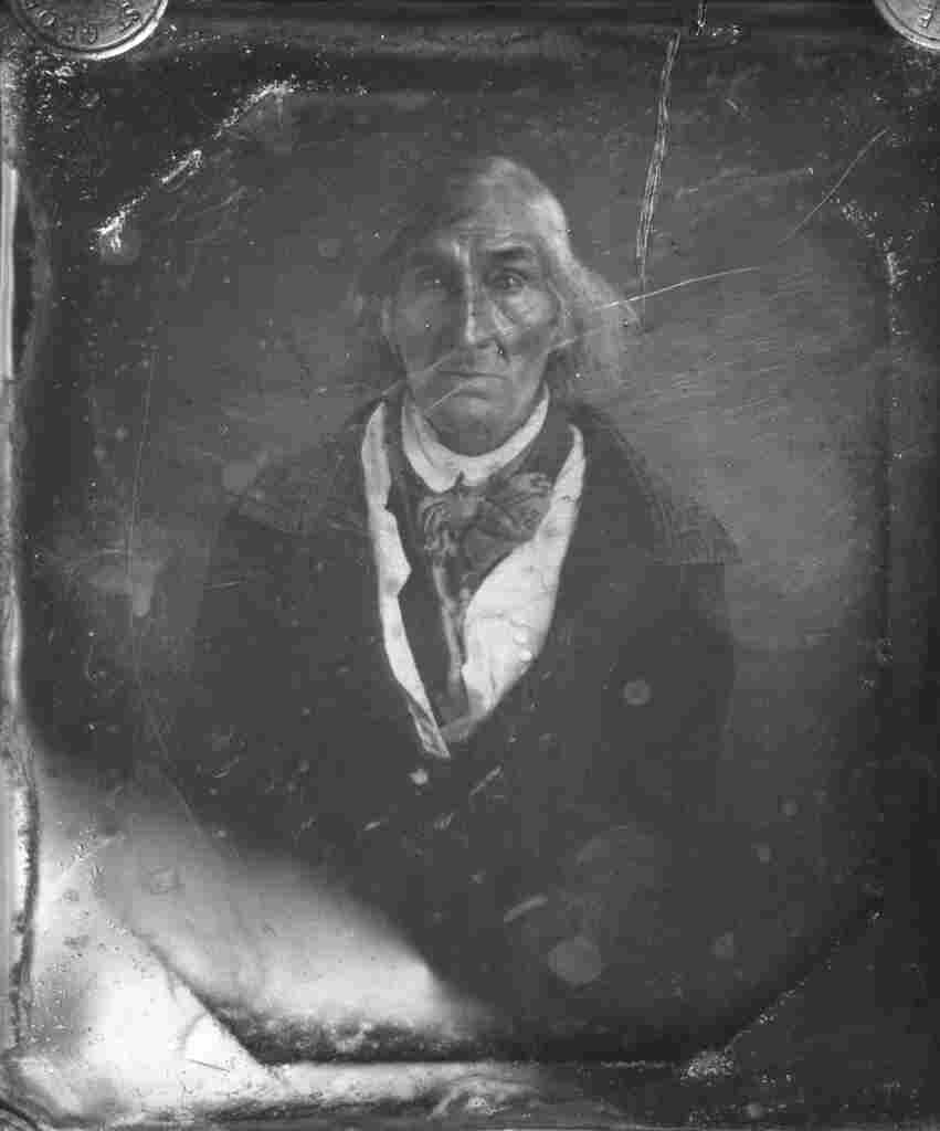 Abram Quary, the last known Indian male on Nantucket, who died in 1854.