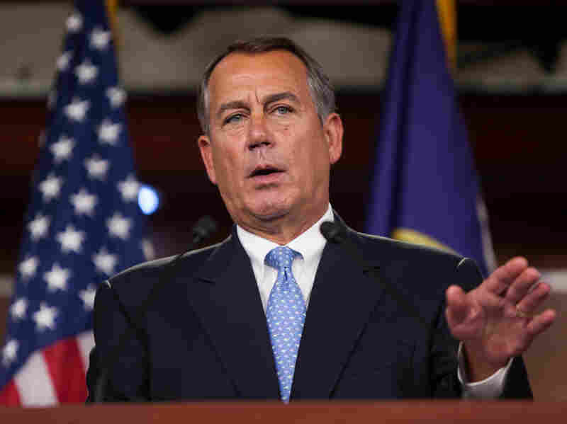 "Speaker of the House John Boehner, R-Ohio, speaks during a news conference in the Capitol on Nov. 9. Boehner has said Republican House leaders and Obama ""can find the common ground"" on immigration policy."