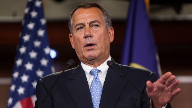 "Speaker of the House John Boehner, R-Ohio, speaks during a news conference in the Capitol on Nov. 9. Boehner has said Republican House leaders and Obama ""can find the common ground"" on immigration policy. (Getty Images)"