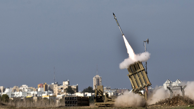 An Israeli missile is launched from the Iron Dome defense system, designed to intercept incoming rockets. This missile was fired from the southern Israeli city of Ashdod in response to a rocket launched from the nearby Palestinian Gaza Strip on Nov. 18. (AFP/Getty Images)