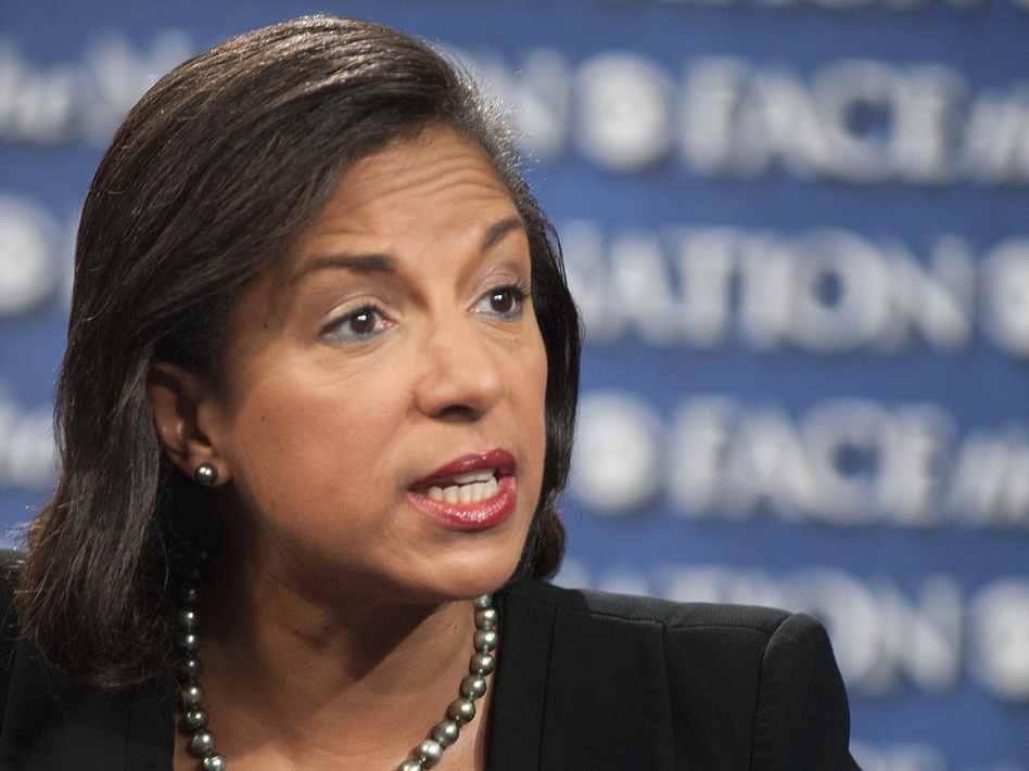 Susan Rice, U.S. ambassador to the U.N., speaks on CBS' Face the Nation on Sept. 16. Her comments on this and other shows that Sunday on the deadly Benghazi attack have been criticized. (AP)