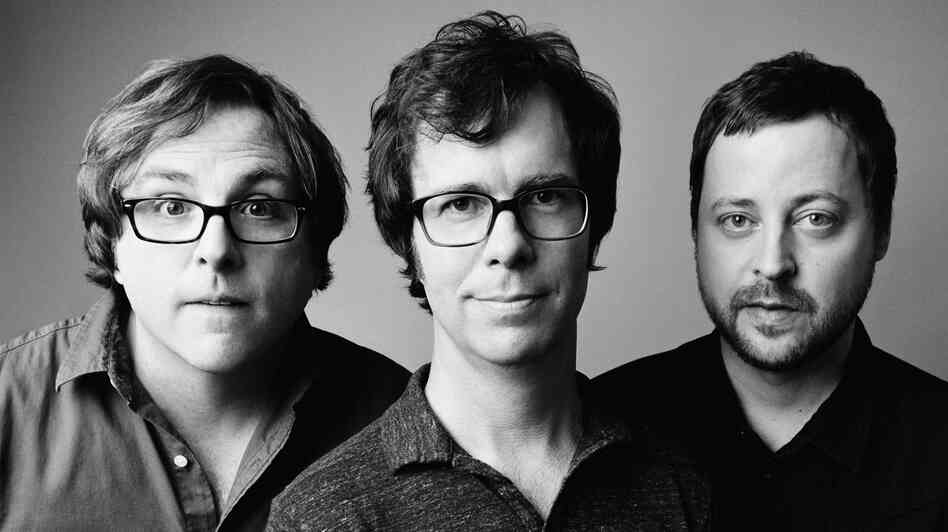 (From left) Robert Sledge, Ben Folds and Darren Jessee of Ben Folds Five.