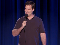 "A screenshot from Rob Delaney's standup special, ""Live At The Bowery Ballroom."""