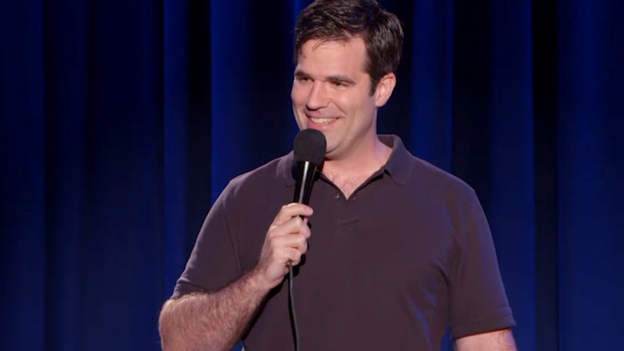 """A screenshot from Rob Delaney's standup special, """"Live At The Bowery Ballroom."""" ( )"""