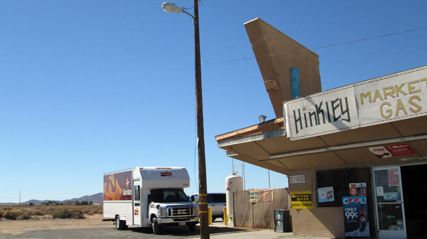 Hinkley, Calif., may soon become a ghost town as residents move away from contaminated water. (Gloria Hillard for NPR)