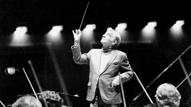 Does This Guy Matter? Conductor Leonard Bernstein during rehearsal with the Cincinnati Symphony at Carnegie Hall in 1977. (New York Daily News via Getty Images)
