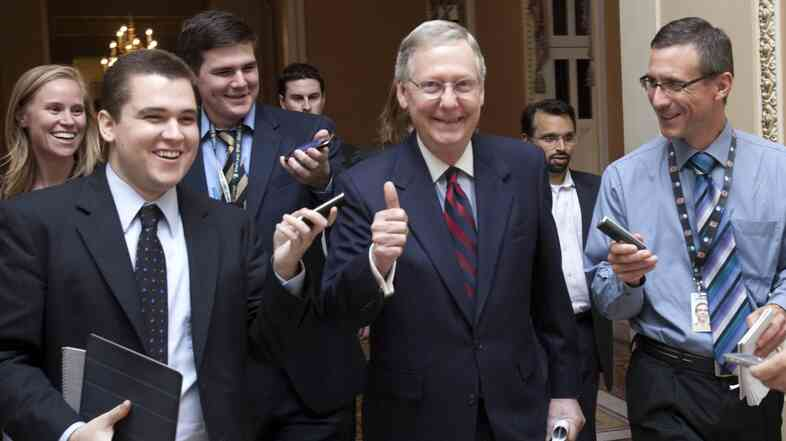 Senate Minority Leader Mitch McConnell, R-Ky., prepares to announce a debt ceiling deal in July 2011. That deal laid the foundation for the across-the-board spending cuts set to take effect on New Year's Day, 2013.