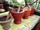 The mortar and pestle can be found in kitchens around the world, including Thailand. In the United States, chef Tanasapamon Rohman uses the tool to grind up chili paste and pulverize rice at her Thai restaurant.