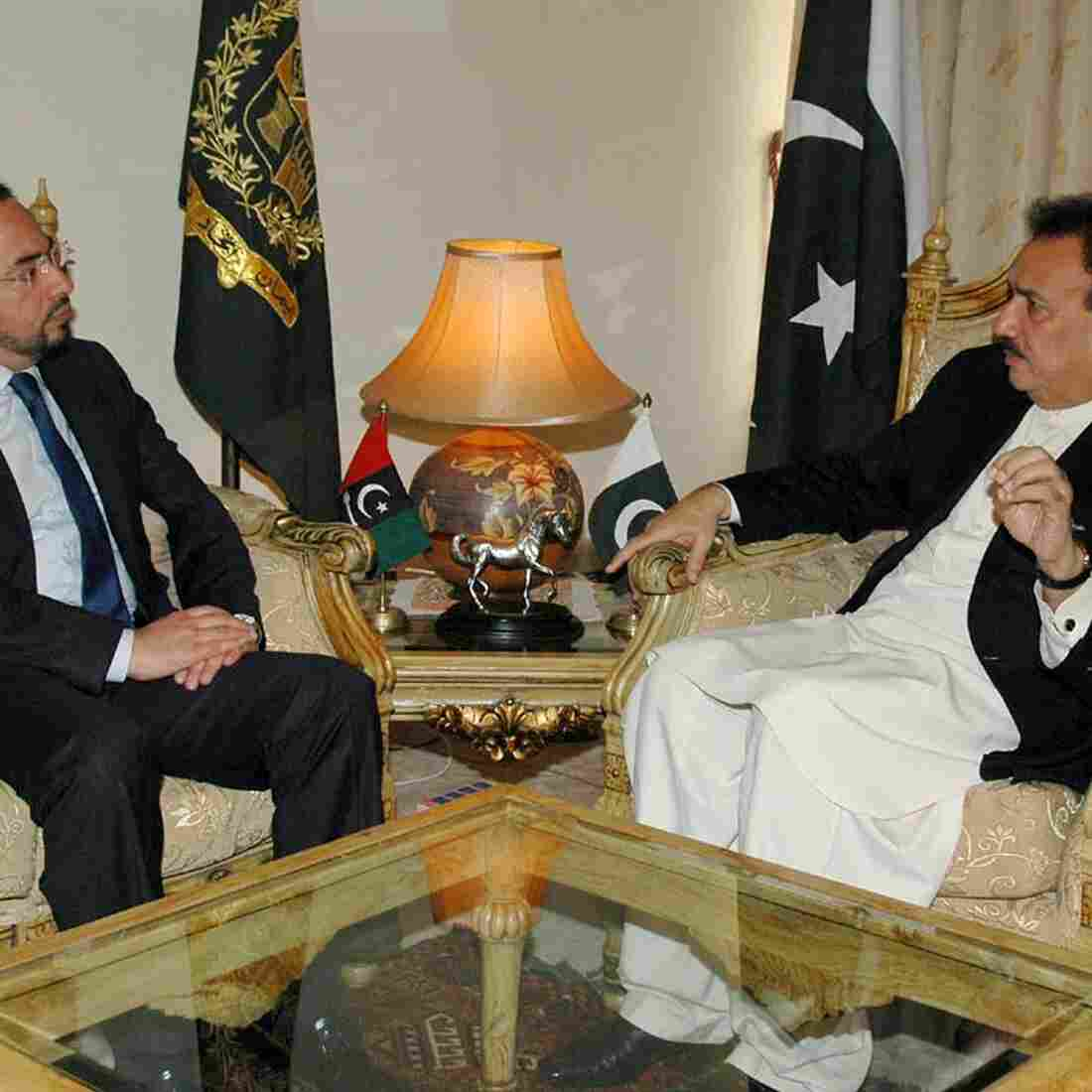 Pakistan's Interior Minister Rehman Malik (right) meets with Salahuddin Rabbani, head of the Afghan High Peace Council, in Islamabad last week. Pakistan freed at least nine Taliban prisoners at the request of the Afghan government, in a move meant to help jump-start a shaky peace process with the militant group in neighboring Afghanistan, officials said.