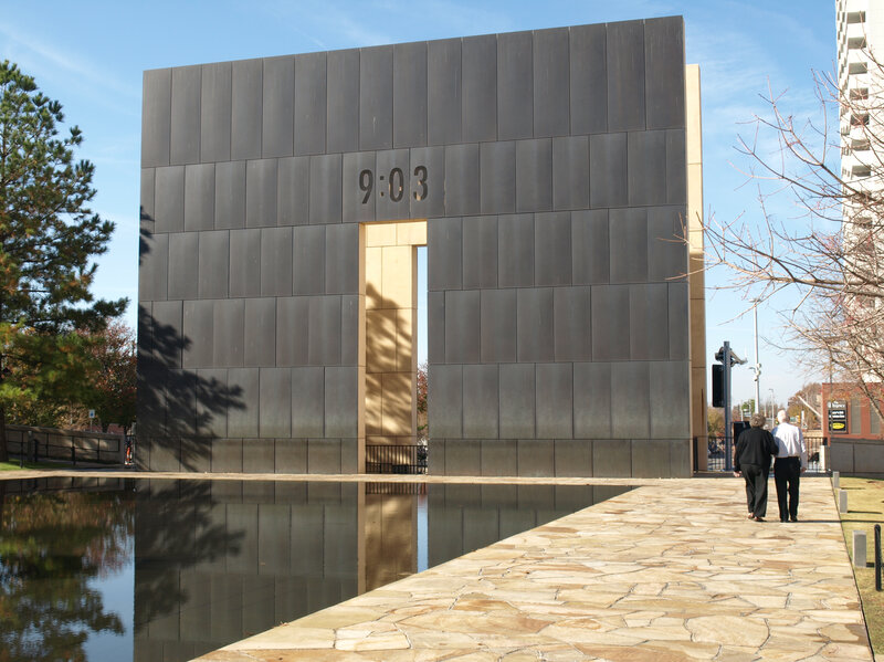 oklahoma bombing memorial address close reader