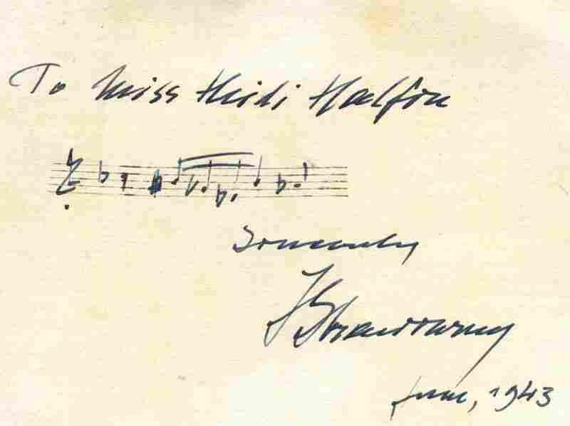 Stravinsky autograph.