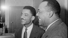 Teddy Wilson (center) and drummer Zutty Singleton in 1940.