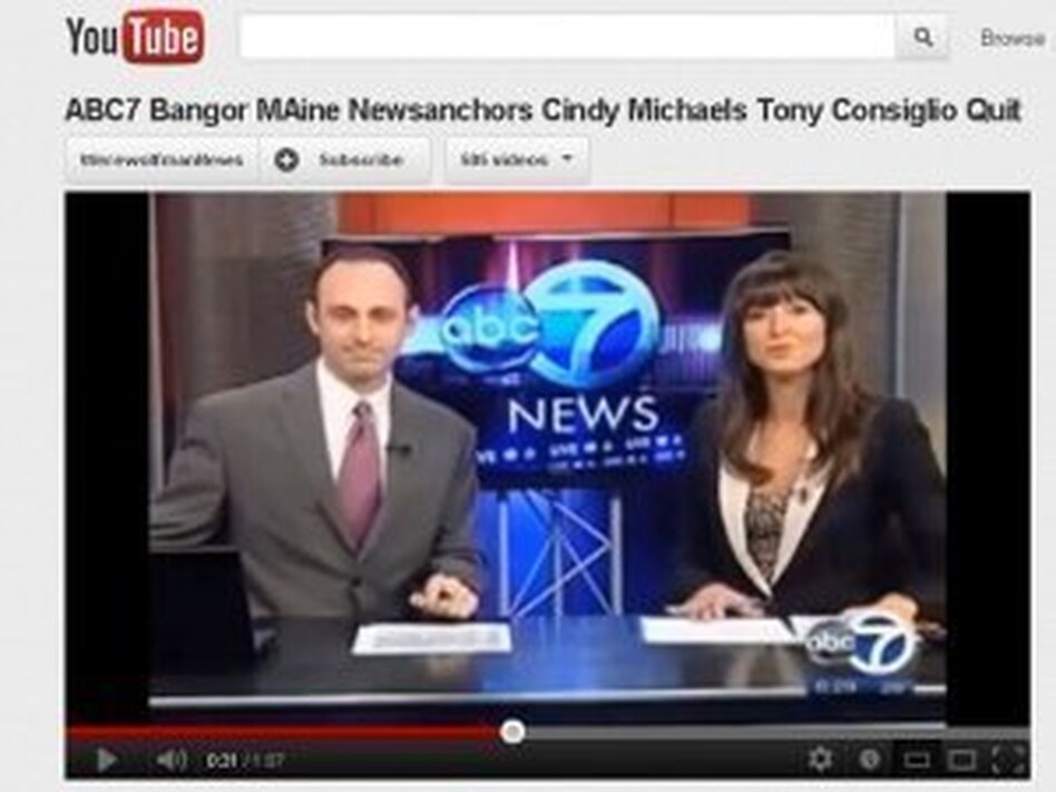 A screen shot of the Bangor, Maine newscast.