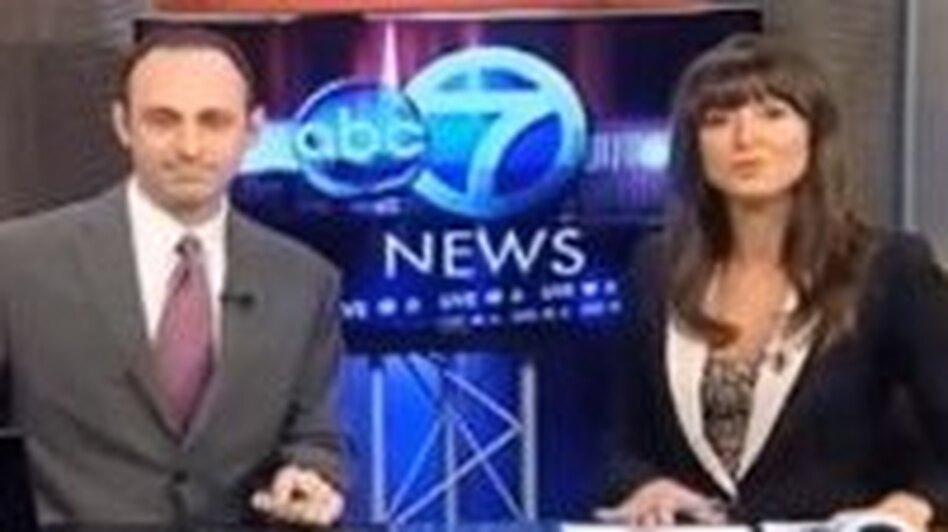 A screen shot of the Bangor, Maine newscast. (YouTube)