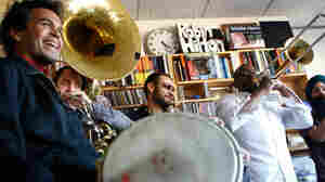Red Baraat performs a Tiny Desk Concert on Feb. 3, 2012.