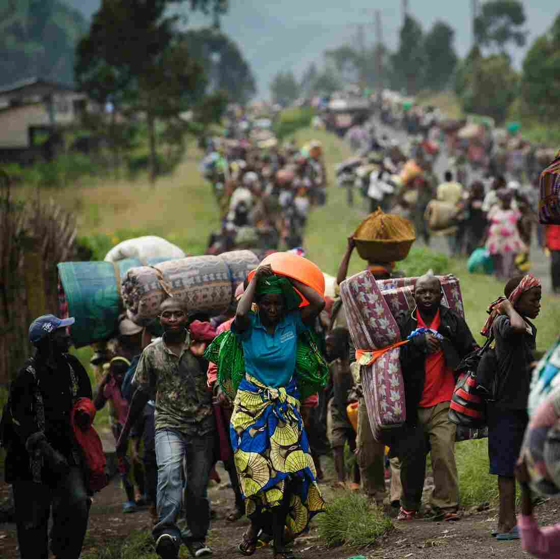 Rebel Advances In Congo Send Civilians Fleeing