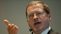 Grover Norquist, head of Americans for Tax Reform, speaks on Nov. 5, 2011, in Washington, D.C.
