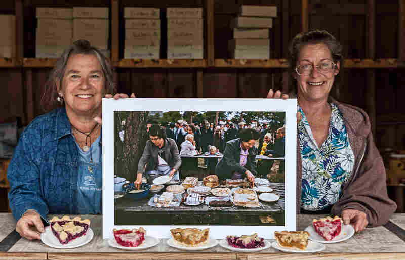 Nita Larronde and Debbie Caraway at a pie festival