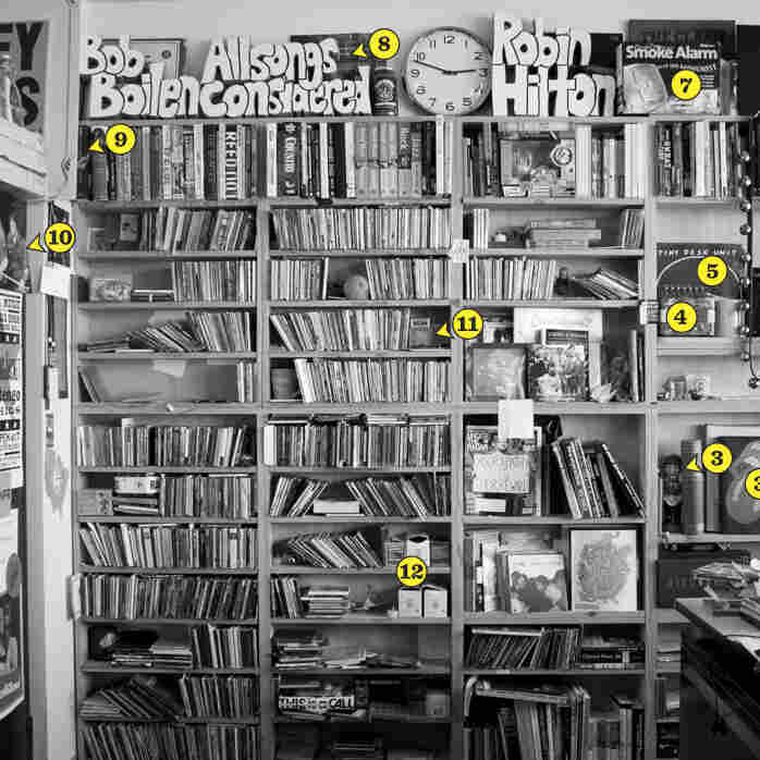 Take a photo tour of the Tiny Desk in the slideshow below, with stories and descriptions of the souvenirs and items adorning the performance space from members of the NPR Music team.