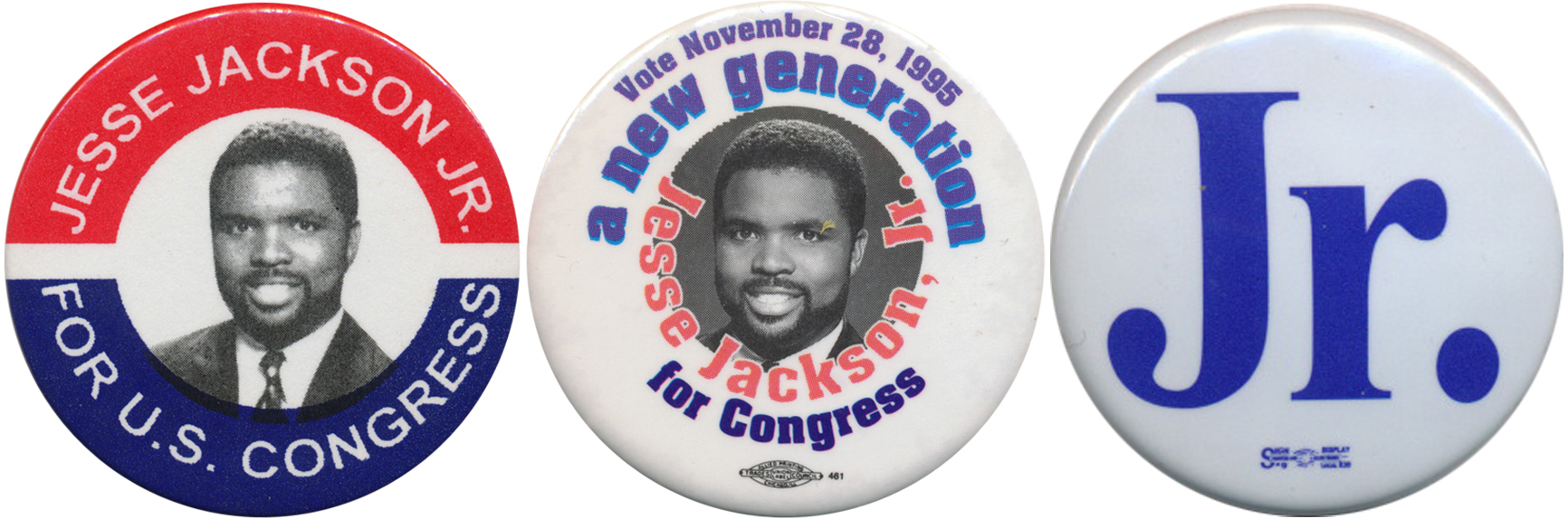 "Jackson was first elected to Congress in 1995.  In his 2012 race, ""Junior"" was sufficient."