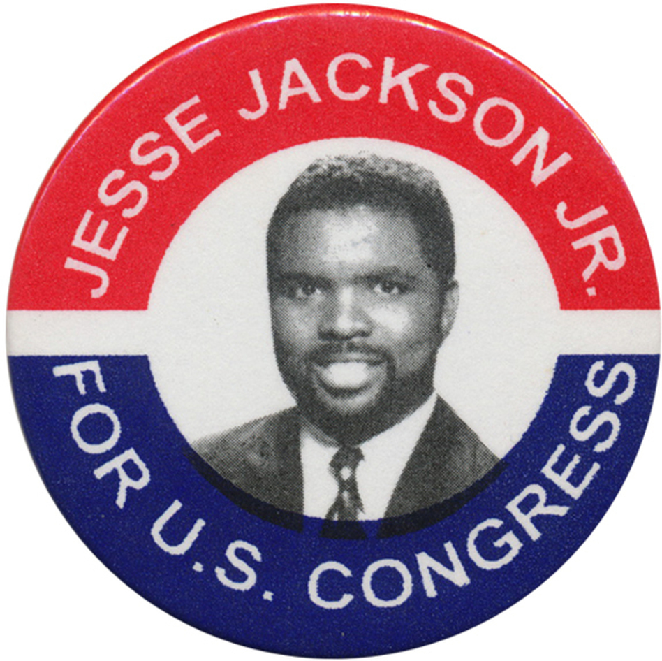 "Jackson was first elected to Congress in 1995.  In his 2012 race, ""Junior"" was sufficient. (Ken Rudin collection)"