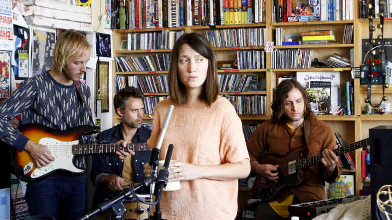 Taken by Trees performs a Tiny Desk Concert on Oct. 12, 2012.