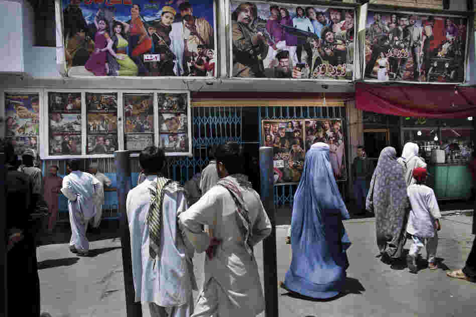 Movie posters outside of Pamir Cinema in Kabul.