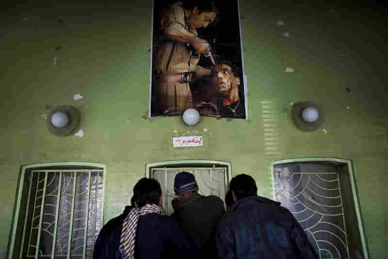 The ticket office at the entrance to Kabul's Ariana Cinema.