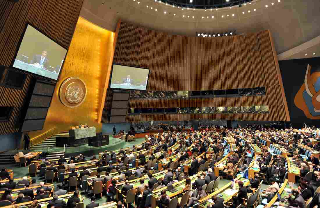 The United Nations General Assembly during a vote earlier this year.
