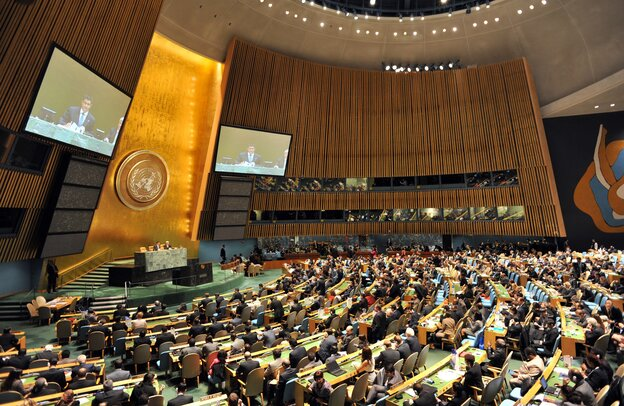 The United Nations General Assembly duri