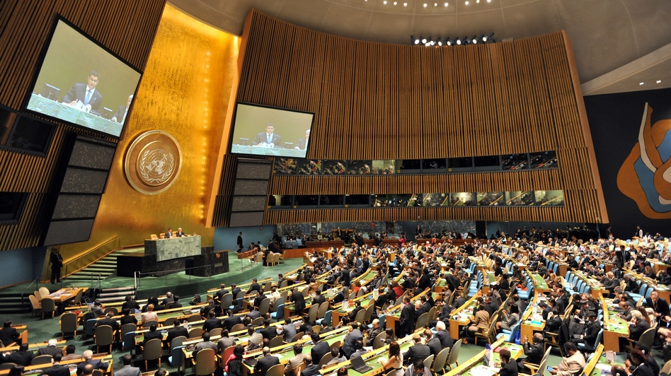 The United Nations General Assembly during a vote earlier this year. (AFP/Getty Images)