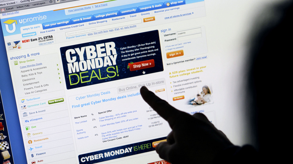 Online shopping during Cyber Monday rose more than 28 percent from a year ago, according to IBM Benchmark. (AP)