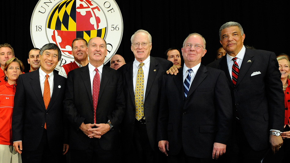 Despite the Big Ten's expansion, Frank Deford says the conference will struggle to compete with pro football in the Northeast. The conference announced the addition of Maryland and Rutgers earlier this month. (Getty Images)