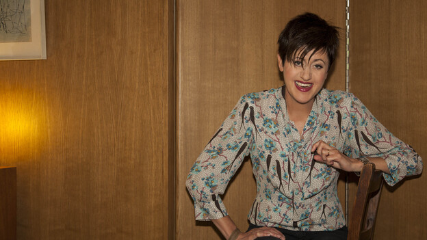 Tracey Thorn, famous for her work in Everything but the Girl, has a new solo album of seasonal tunes called Tinsel and Lights. (Courtesy of the artist)