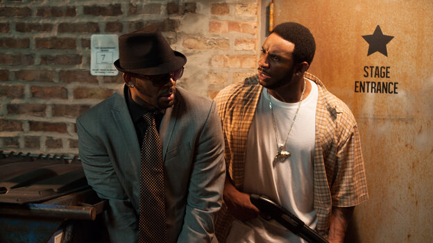 R. Kelly (left) as Sylvester, and Eric Lane as Twan, in Trapped in the Closet, which relaunched with new chapters last week on IFC.