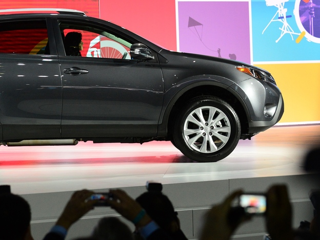 Toyota unveils its new RAV4 crossover SUV to the media Wednesday before the L.A. Auto Show opens to the public.