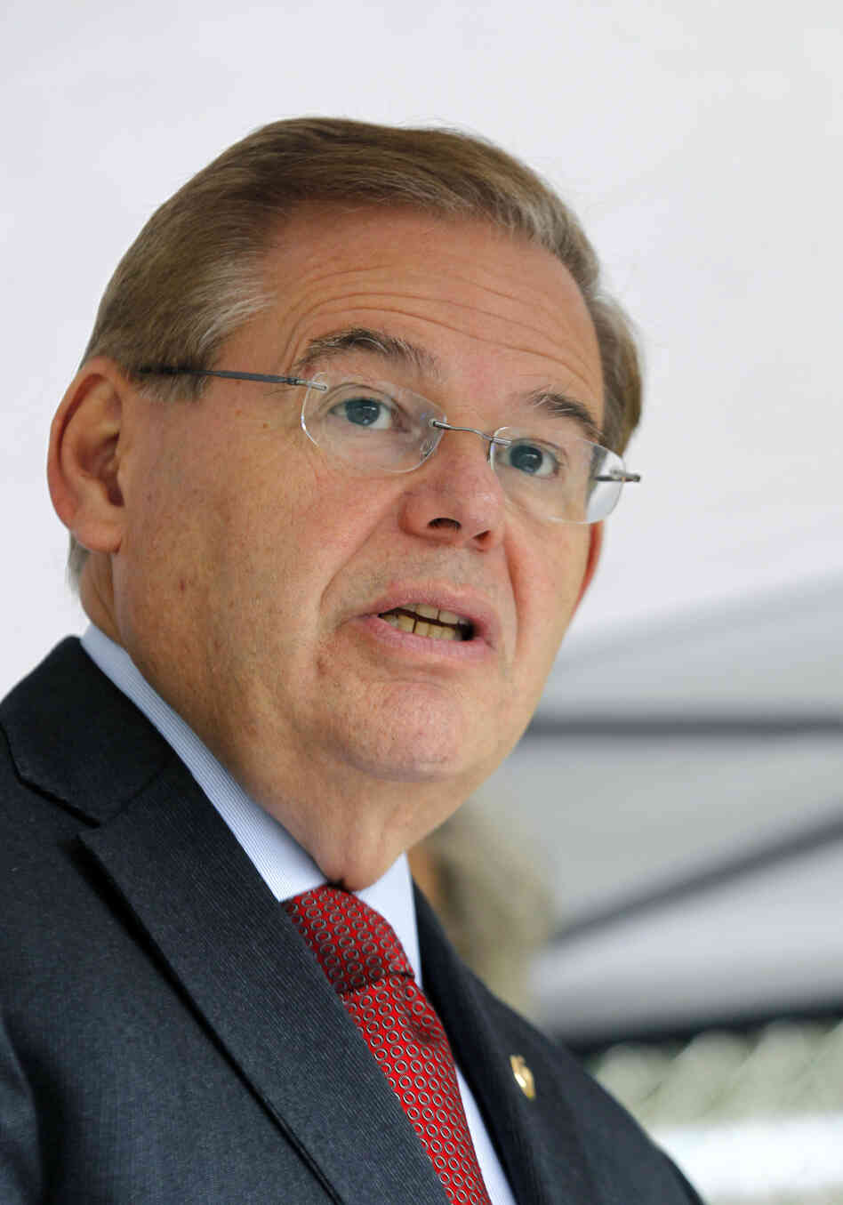 Sen. Robert Menendez, D-N.J., and 20 House members make up the Congressional Hispanic Caucus. Here, Menendez speaks in September in Sayreville, N.J.