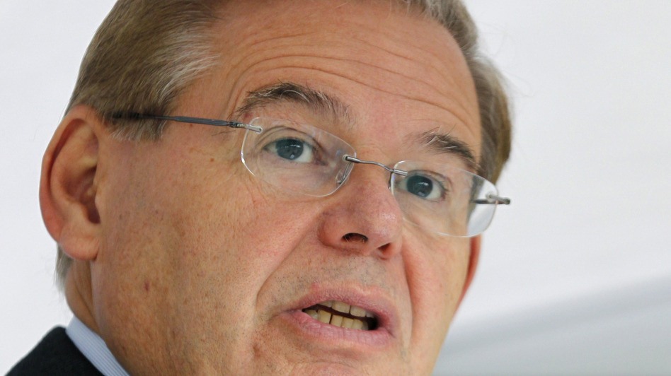 Sen. Robert Menendez, D-N.J., and 20 House members make up the Congressional Hispanic Caucus. Here, Menendez speaks in September in Sayreville, N.J. (AP)