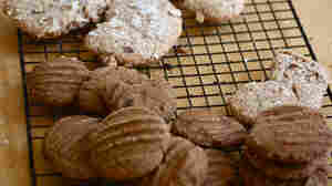 Almond Crescent Cookies and Ginger Snaps