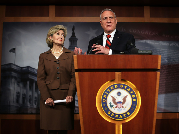 Kay Bailey Hutchison of Texas and Jon Kyl of Arizona on Tuesday introduced a bill that would allow illegal immigrants to stay in the country, but would not offer them a path to citizenship.