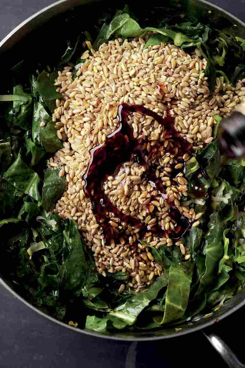 Wheat berries & Swiss Chard 