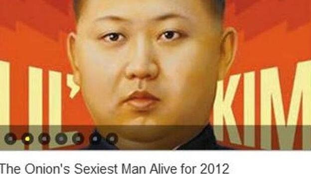 """Before it disappeared from the Web: Here's how People's Daily Online packaged its coverage of the """"news"""" that Kim Jong Un is 2012's sexiest man. (People's Daily Online (frame grab of a page that has now been removed))"""