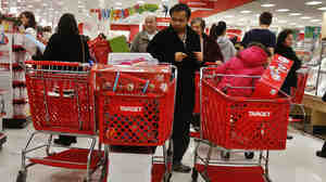 Shoppers at a Target store in Westbury, N.Y., last week. Consumer spending drives the economy. And the holiday shopping season is crucial