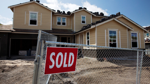 A sold sign at a new home site in Danville, Calif., earlier this year. (Getty Images)