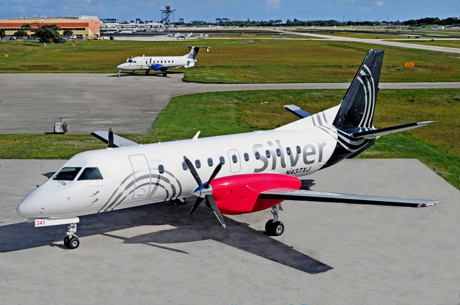 Turboprop planes make up the entire fleet at Silver Airways. Airlines are increasingly using propeller planes to cut costs.